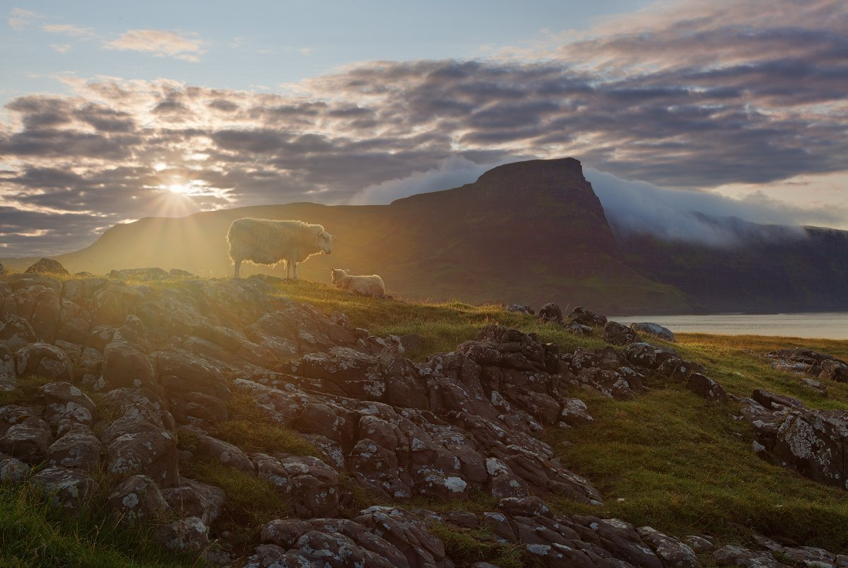 шотландия, рассвет, scotland, skye, neist point, sunrise, Alex Darkside
