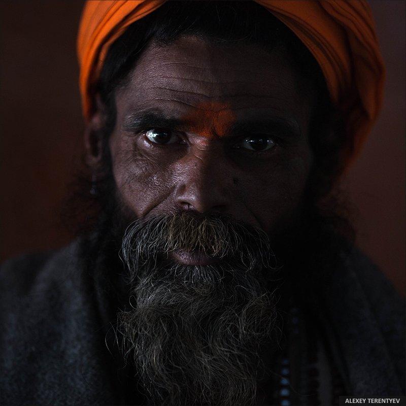 Садху, Индия, портрет, взгляд, Алексей Терентьев