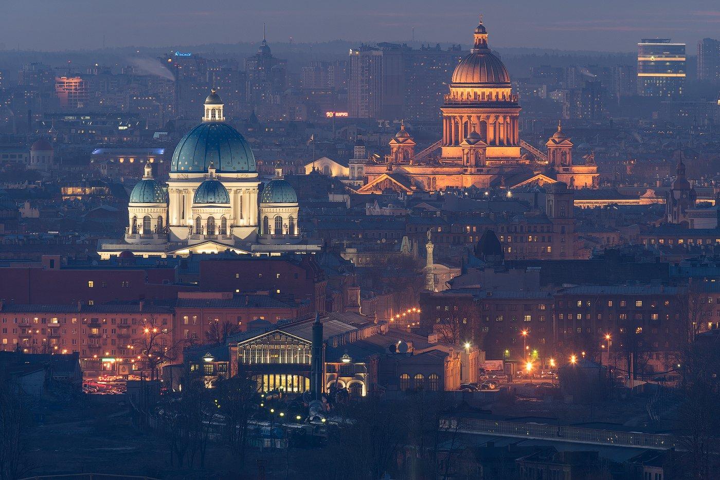800мм, Весна, Вечер, Исаакиевский собор, Крыша, Санкт петербург, Телеобъектив, Троицкий собор, Sergey Louks