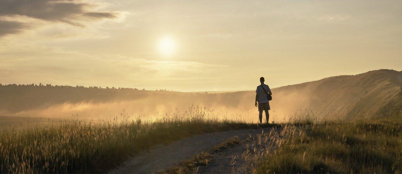 утро, солнце, туман, силуэт, Старый Орхей, Владимир Петрукович