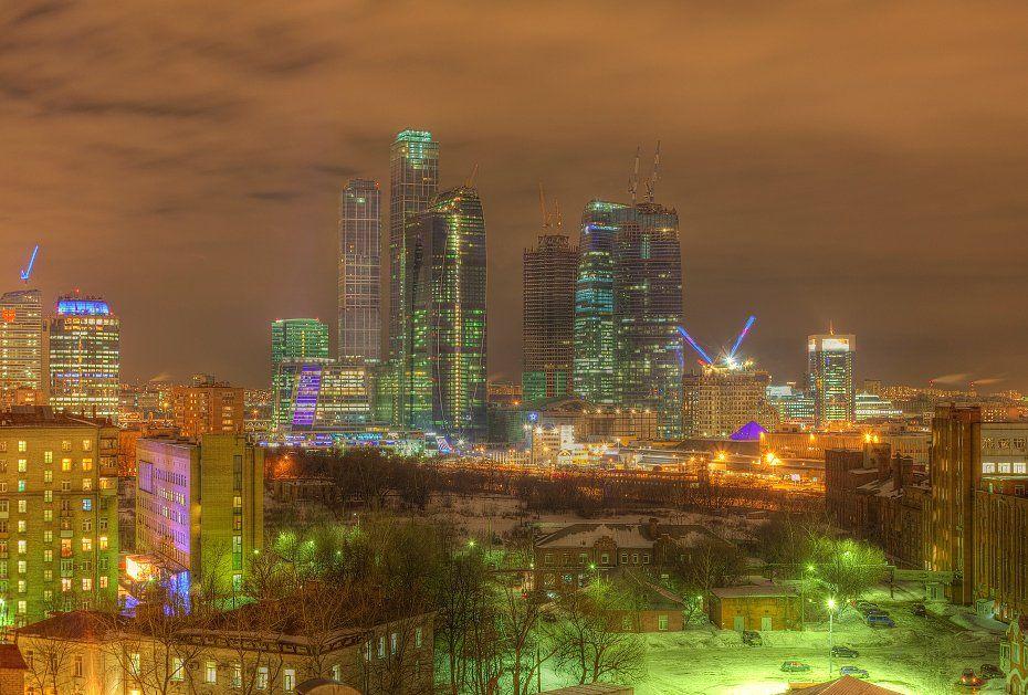 крыша, крыши, город, москва, ночь, ммдц, сити, Kremchik