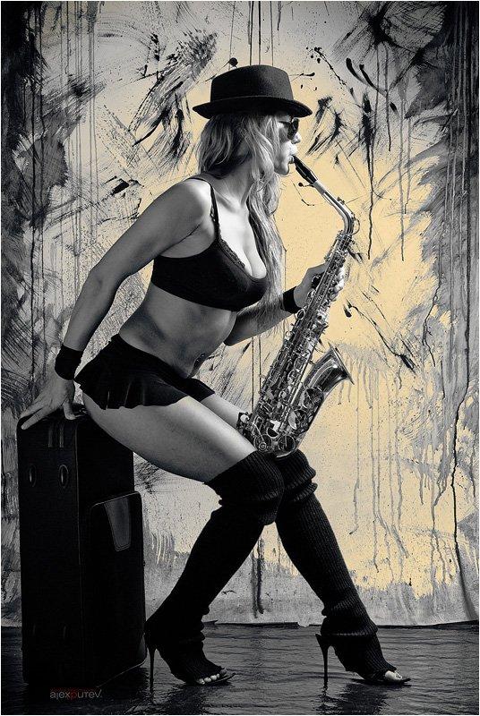 music,музыка,саксофон,девушка, Александр Путев