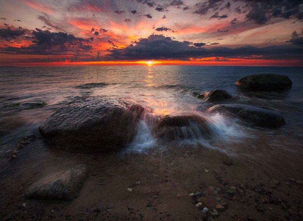 закат, ключенков, море, небо, пейзаж, цвет, эстония, Kljuchenkow Aleksandr
