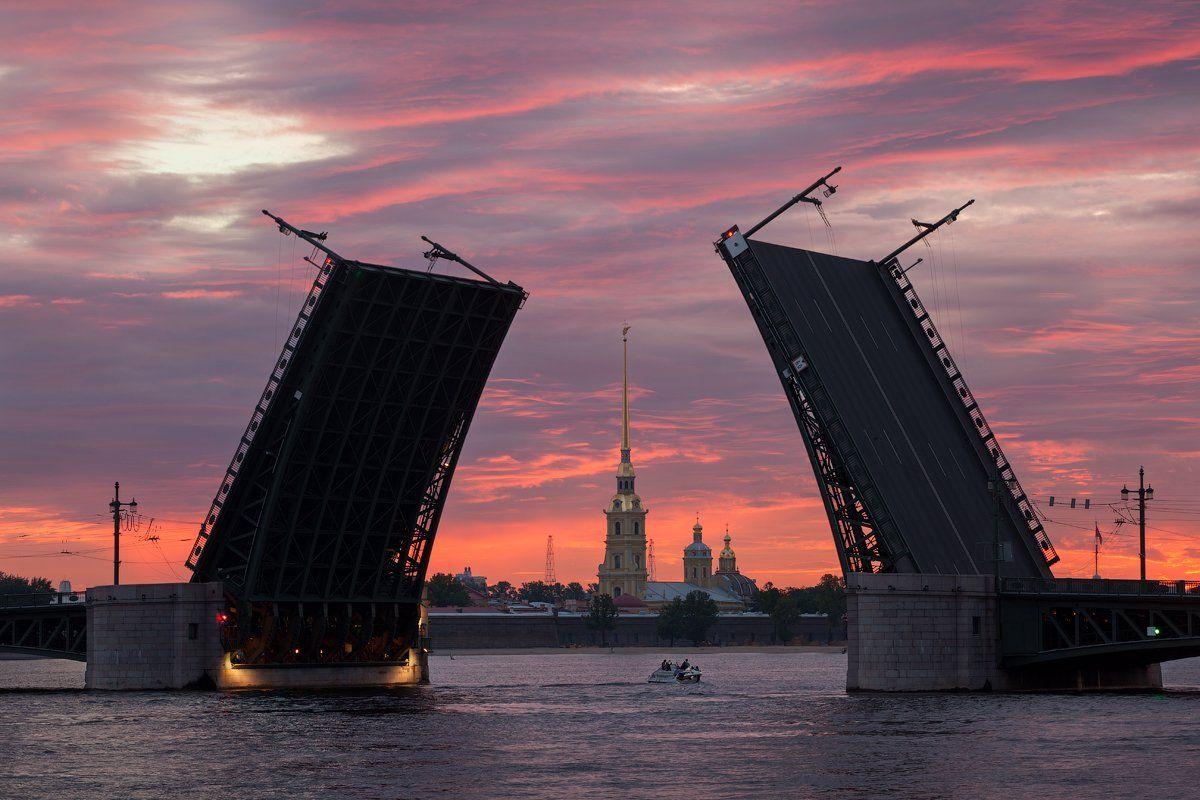 санкт-петербург, питер, дворцовый, мост, нева, белые, ночи, Alex Darkside