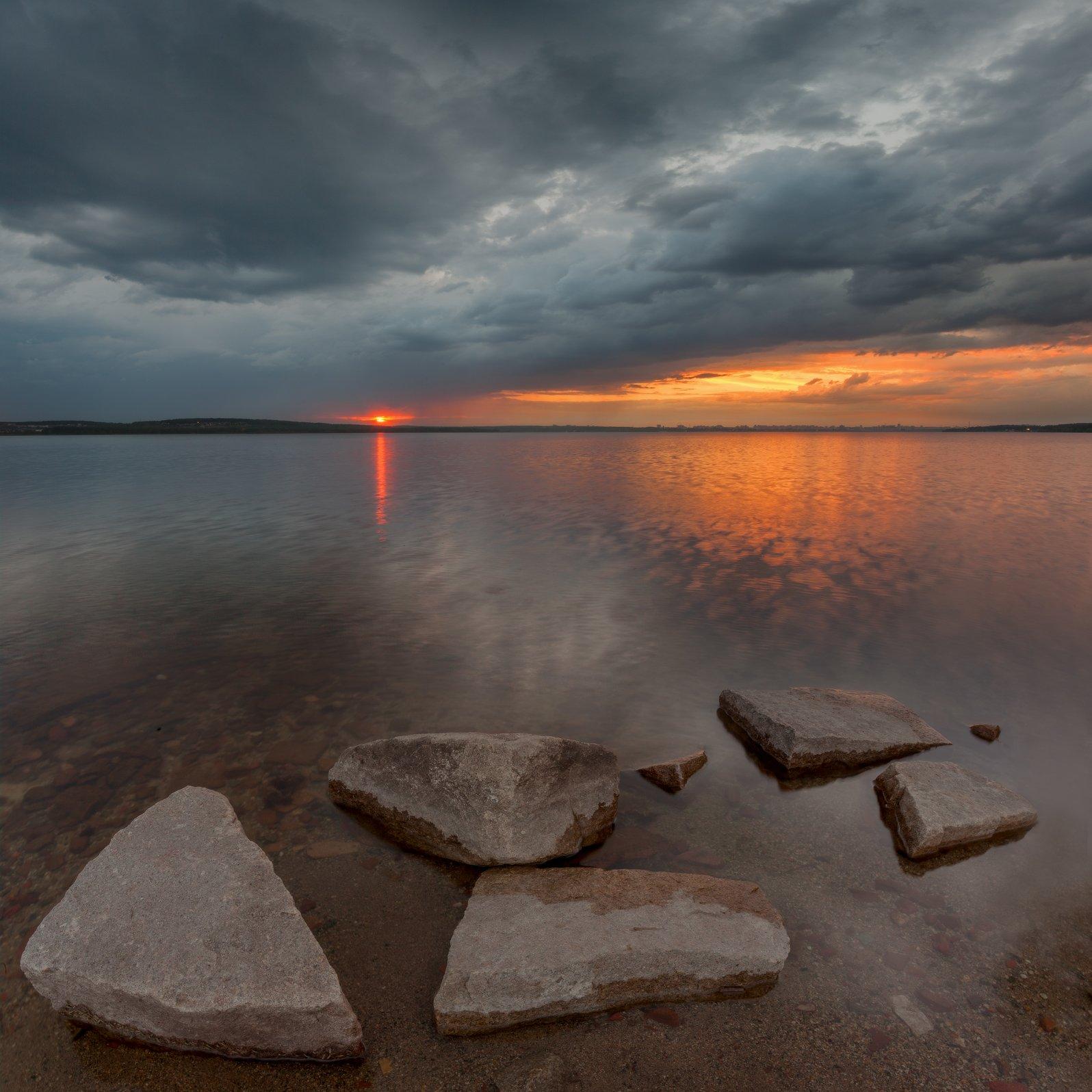 челябинск, закат, шершни, камни, облака, t_berg, Михаил Трахтенберг ( t_berg )