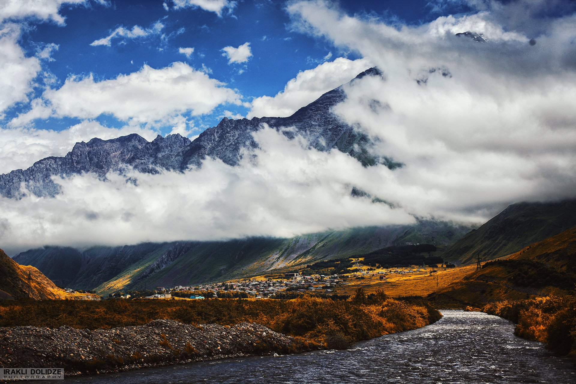 landscape, mountain, river, outdoor, hiking, canon, photography, colored, autumn, clouds, sky,, ირაკლი დოლიძე