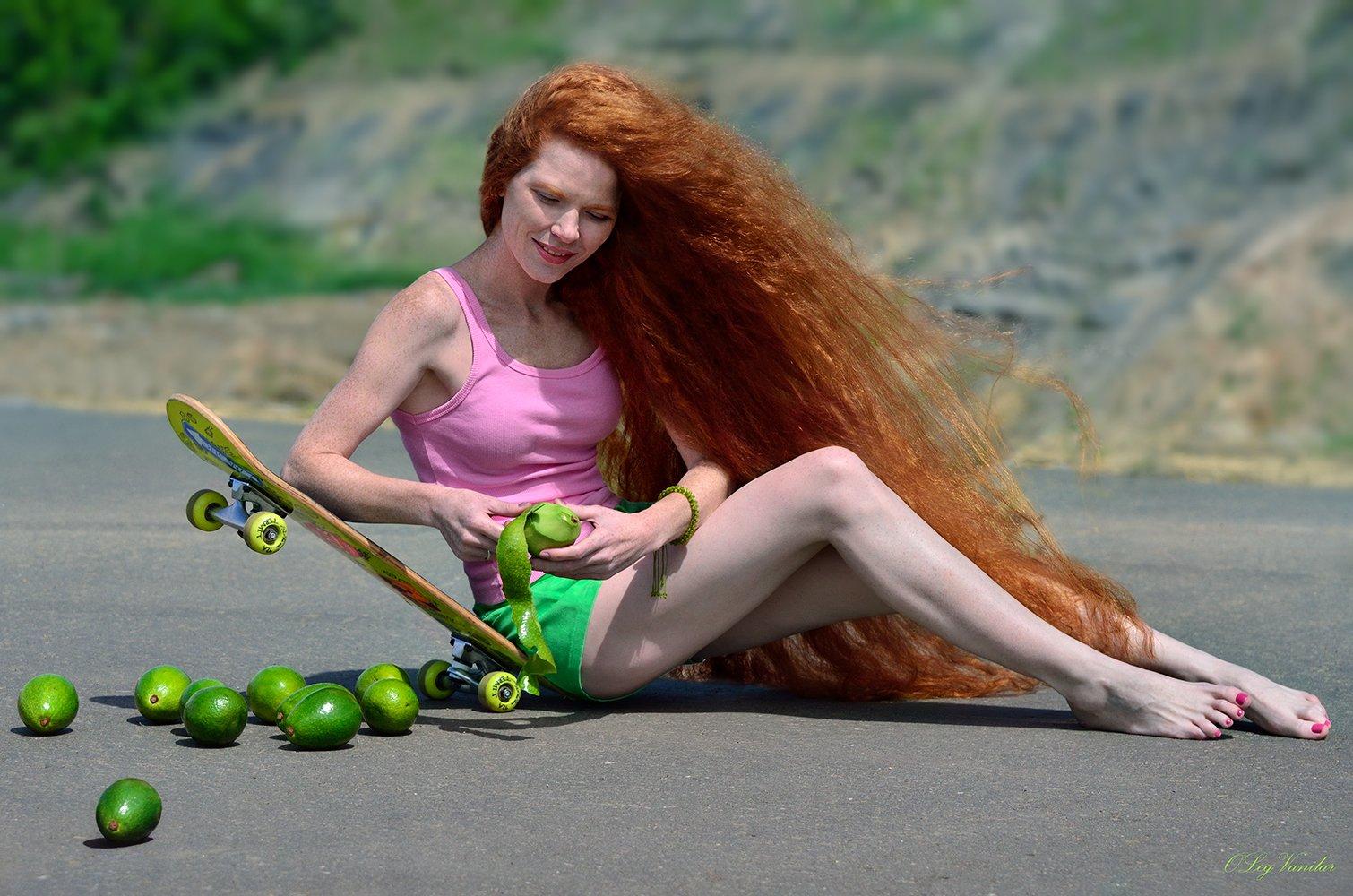 лето, девушка, красота, дорога, Олег Ванилар