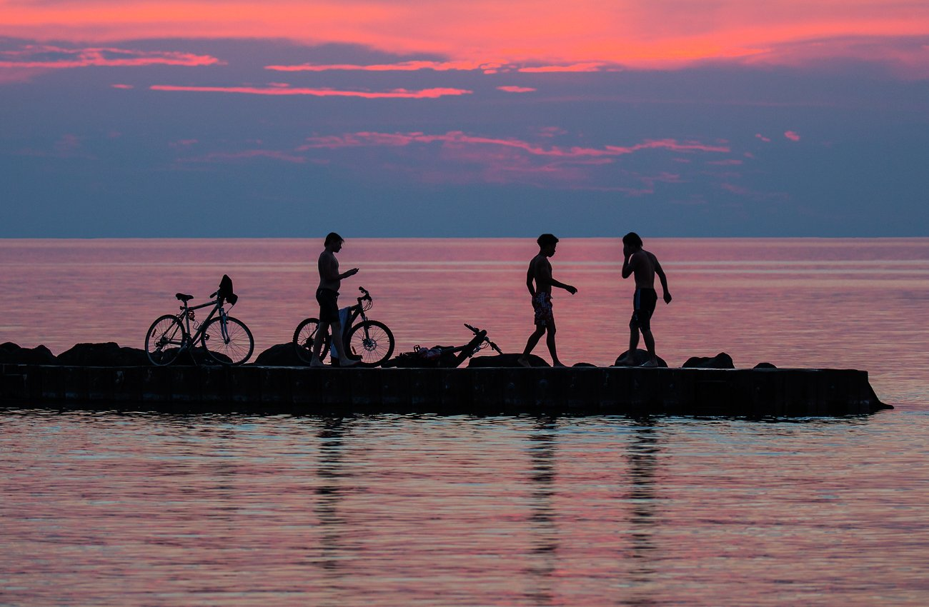 Boys, Lake, Summer, Sunset, Закат,, Лето,, Озеро,, Пацаны,, G A S