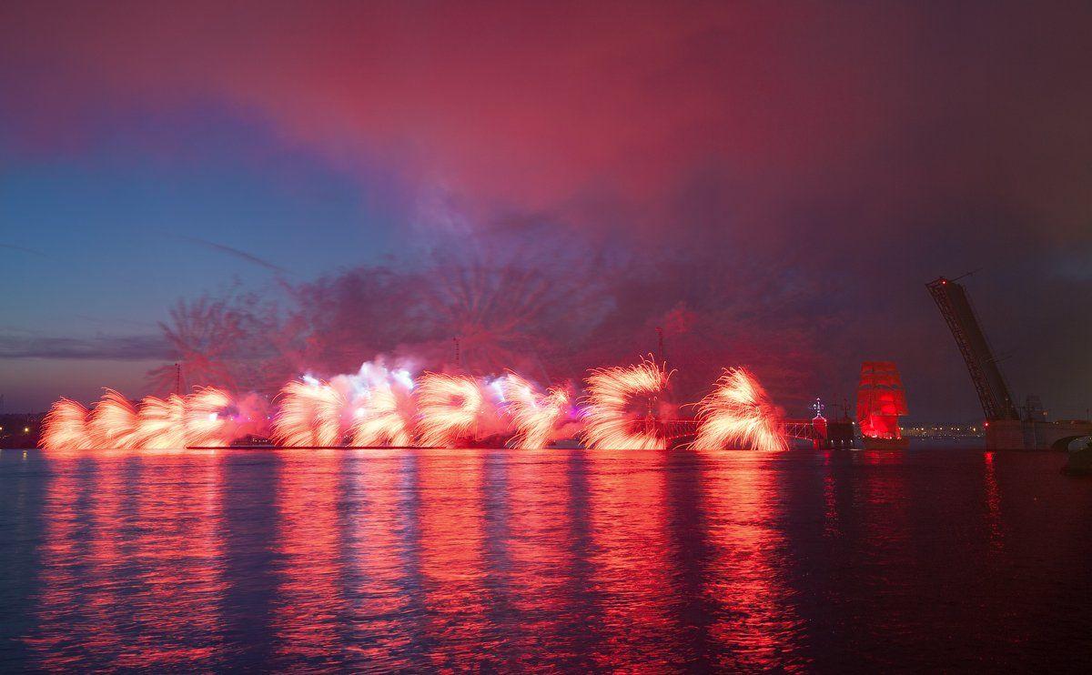 алые паруса, питер, праздник выпускников, санкт-петербург, фейерверк, Alex Darkside