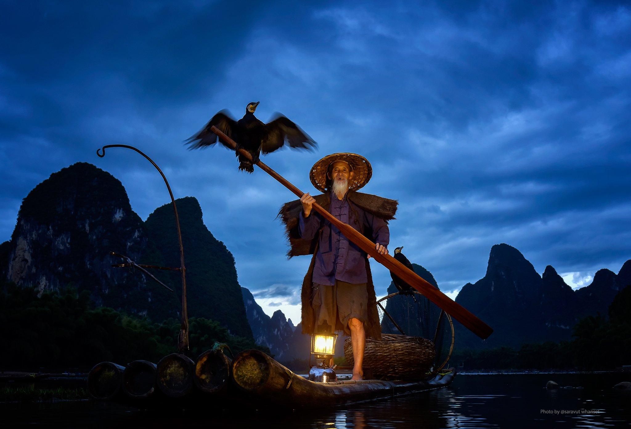 China, Fisherman, Fishing, River, Saravut Whanset
