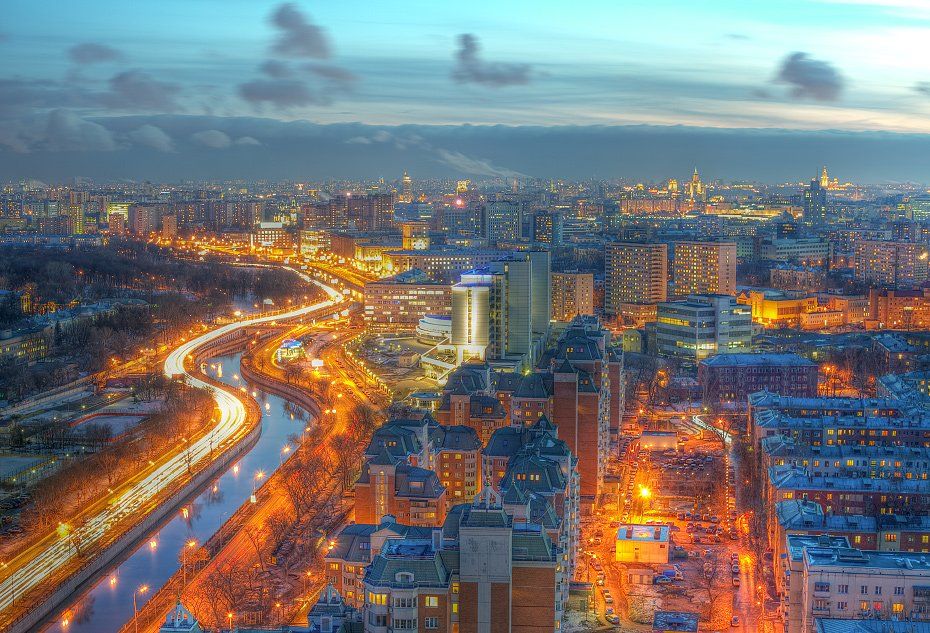 крыша, крыши, город, москва, вечер, облака, Kremchik
