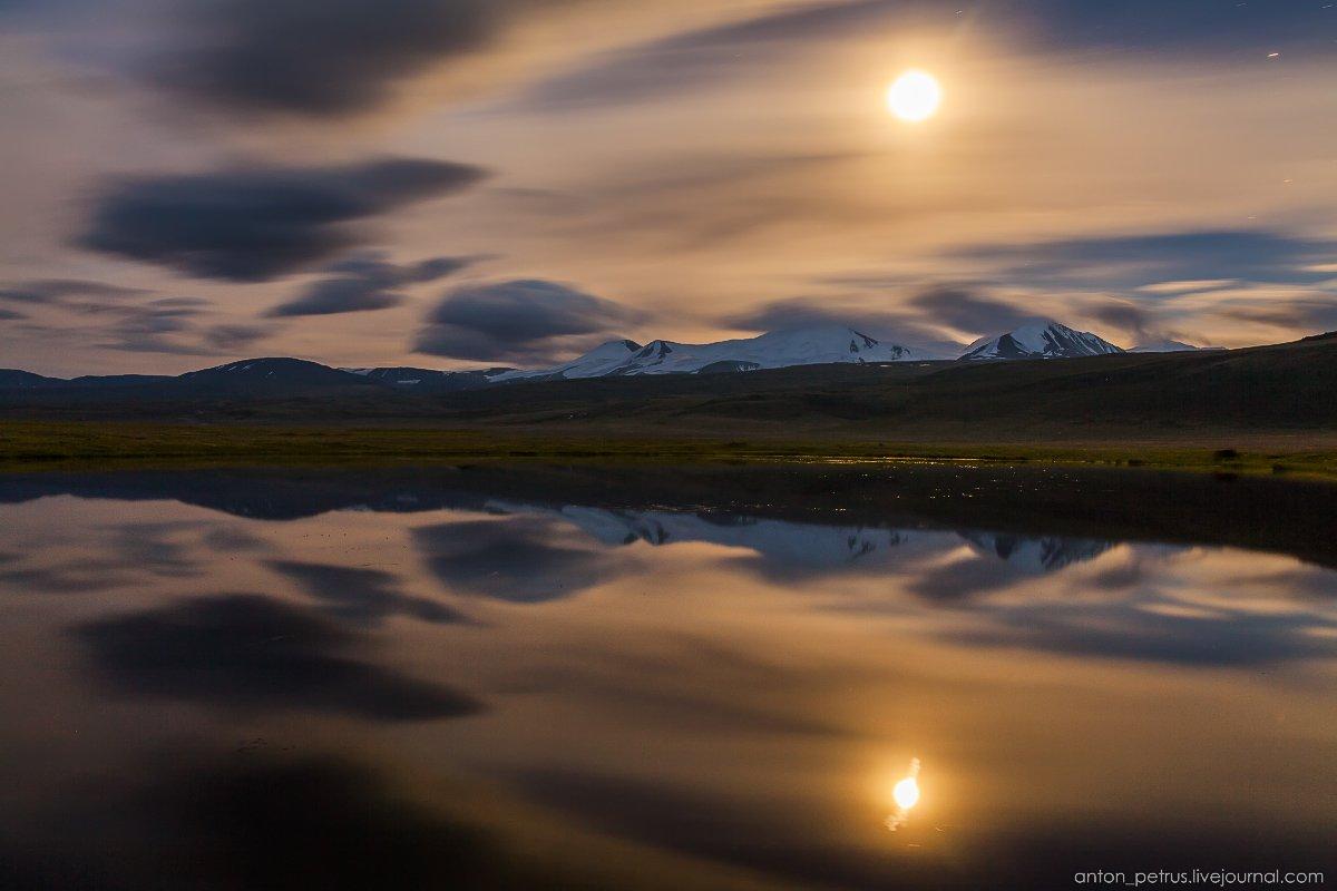 алтай, луна, ночь, озеро, плато укок, Антон Петрусь