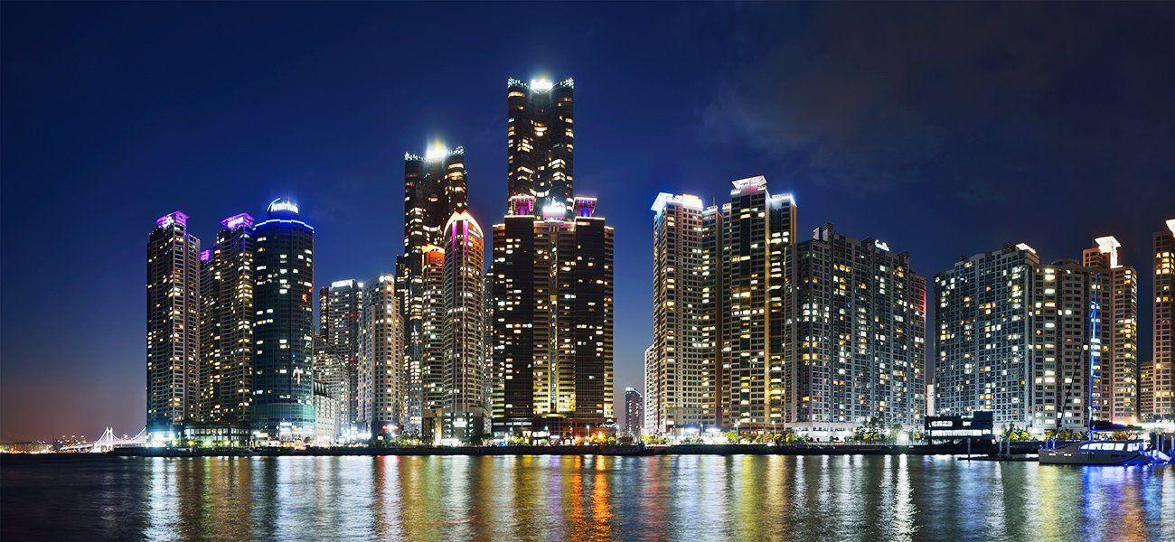 Cityscape, Panorama, Pnorama, South korea, Эдуард Ким