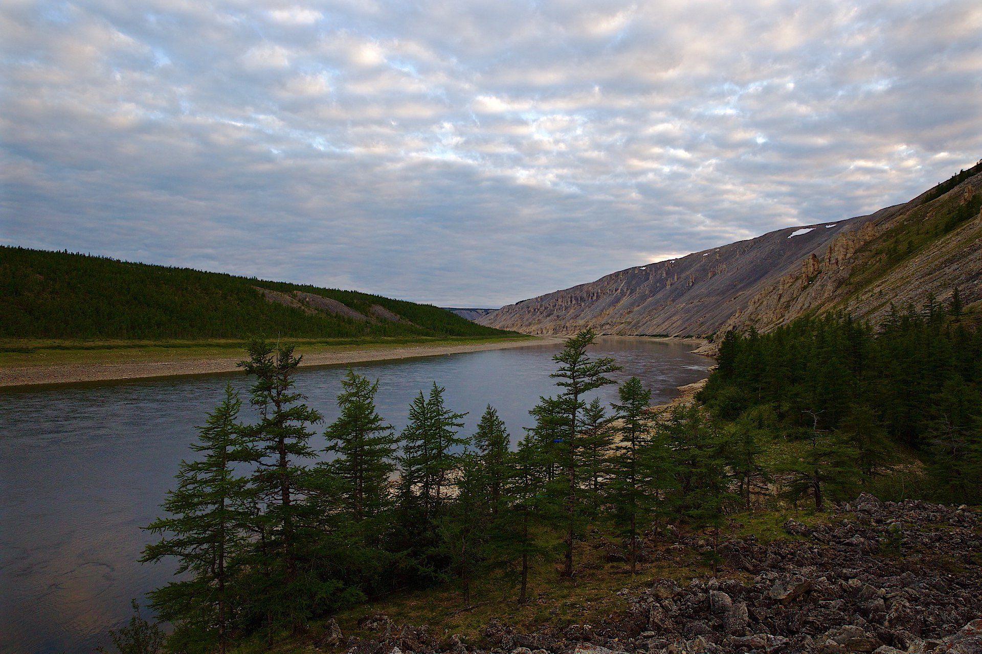 Дикая природа россии, Западная сибирь, Полярная ночь, Река Котуй, Мазурин Евгений