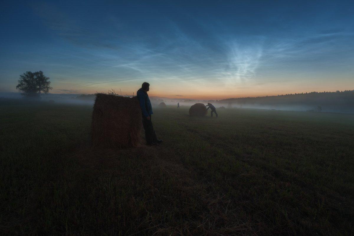 серебристые облака, белые ночи, июнь, спасс косицы, деревня, Борис Богданов