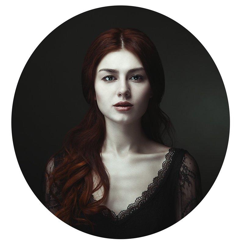 портрет, рыжая, девушка, винтаж, Маховицкая Кристина