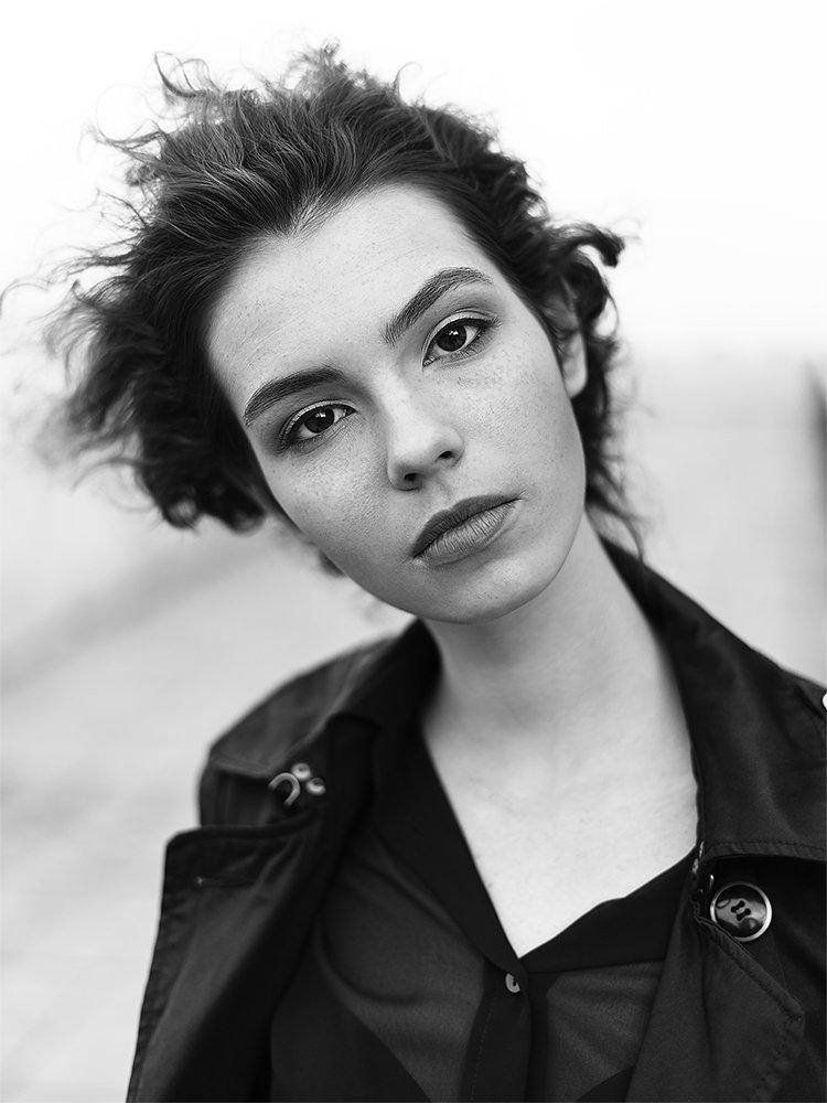 девушка портрет черно-белый чб , Меркулов Антон