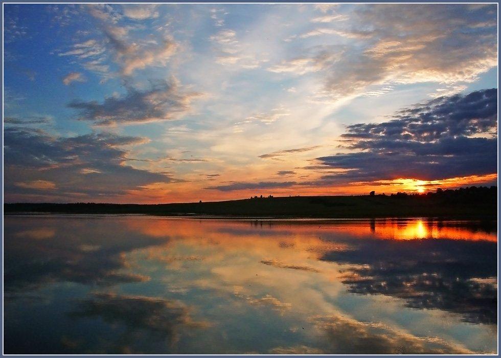 закат,небо,пруд,удмуртия, Андрей,любитель 35photo