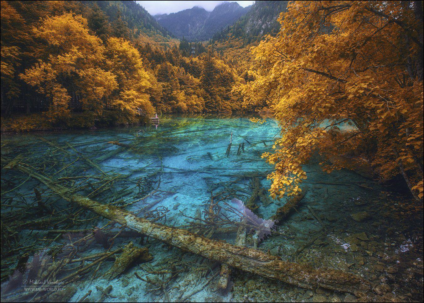 Китай, Цзючжайгоу,природа, парк, озеро, , Михаил Воробьев
