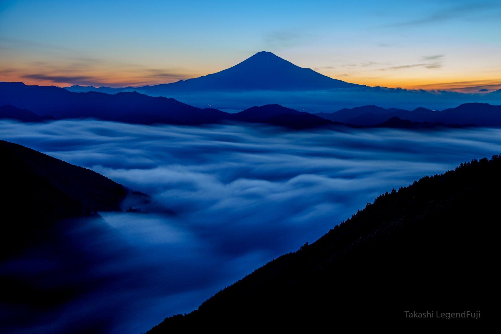 Fuji,mountain,dawn,Japan,sky,cloud,river,morning,sky,blue,beautiful,amazing, Takashi