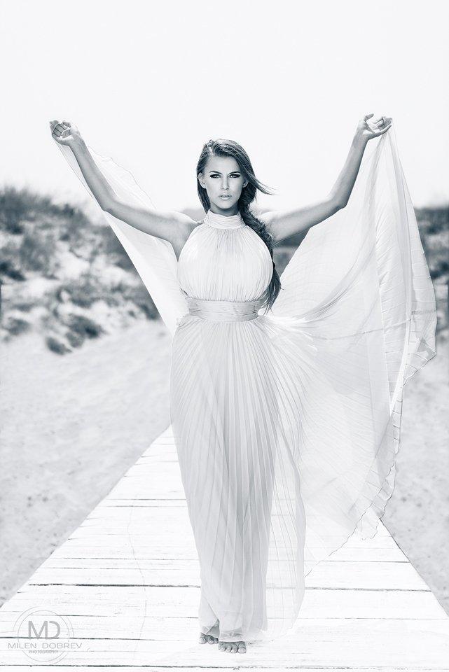 model, glamour, b&w, beauty, Милен Добрев
