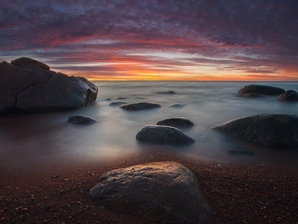 estonia, landscape, summer, sunset, Kljuchenkow Aleksandr