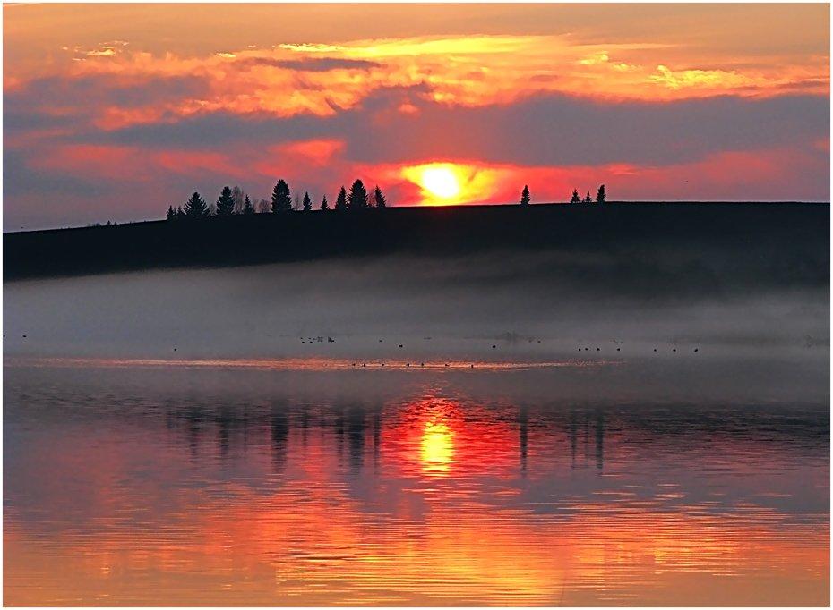 пейзаж,закат,небо,пруд,удмуртия,солнце, Андрей,любитель 35photo
