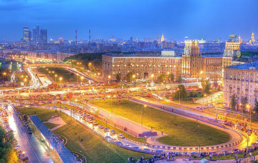 крыша, крыши, город, москва, вечер, площадь, гагарина, победа, праздник, Kremchik