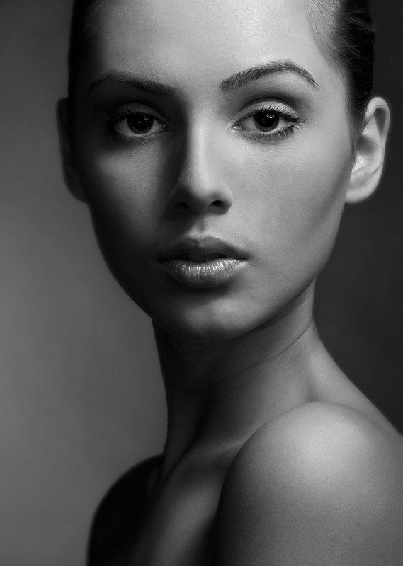 девушка, портрет, студия, взгляд, Denis Kartavenko