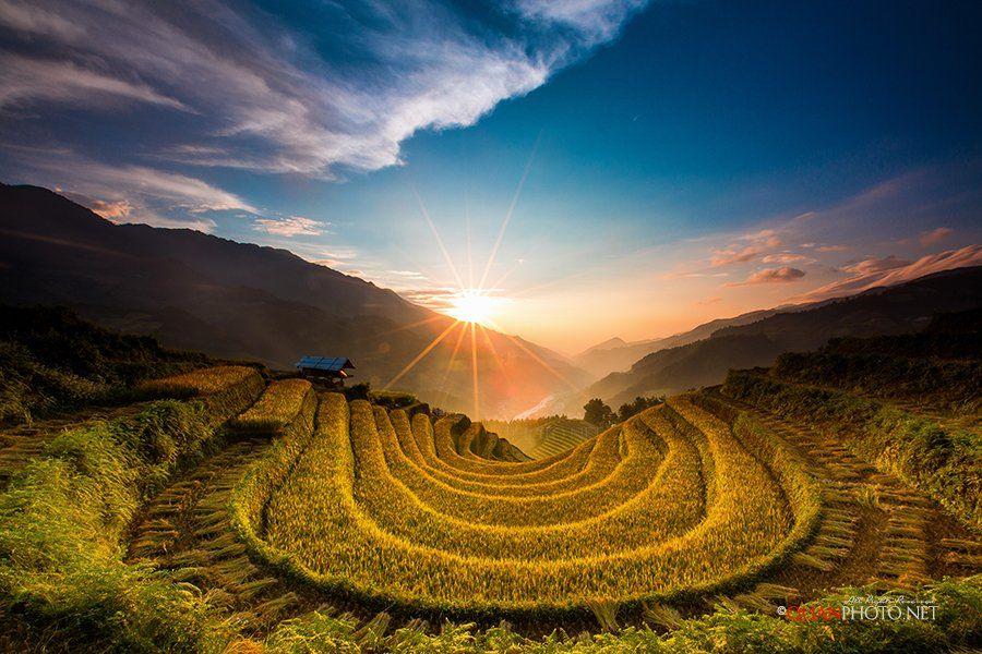 #quanphoto,#landscape,#sunset,#sundown,#twilight,#valley,#mountains,#sky,#rice,#terraces,#fields,#mucangchai,#vietnam, quanphoto