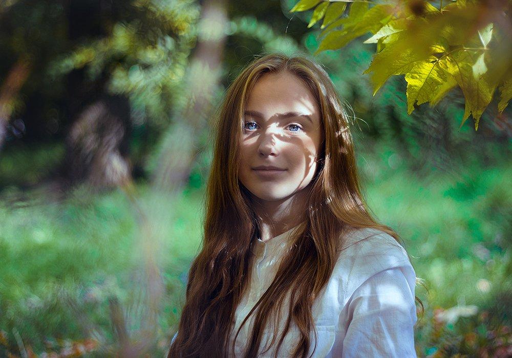 девушка, портрет, тень, Анна Северина