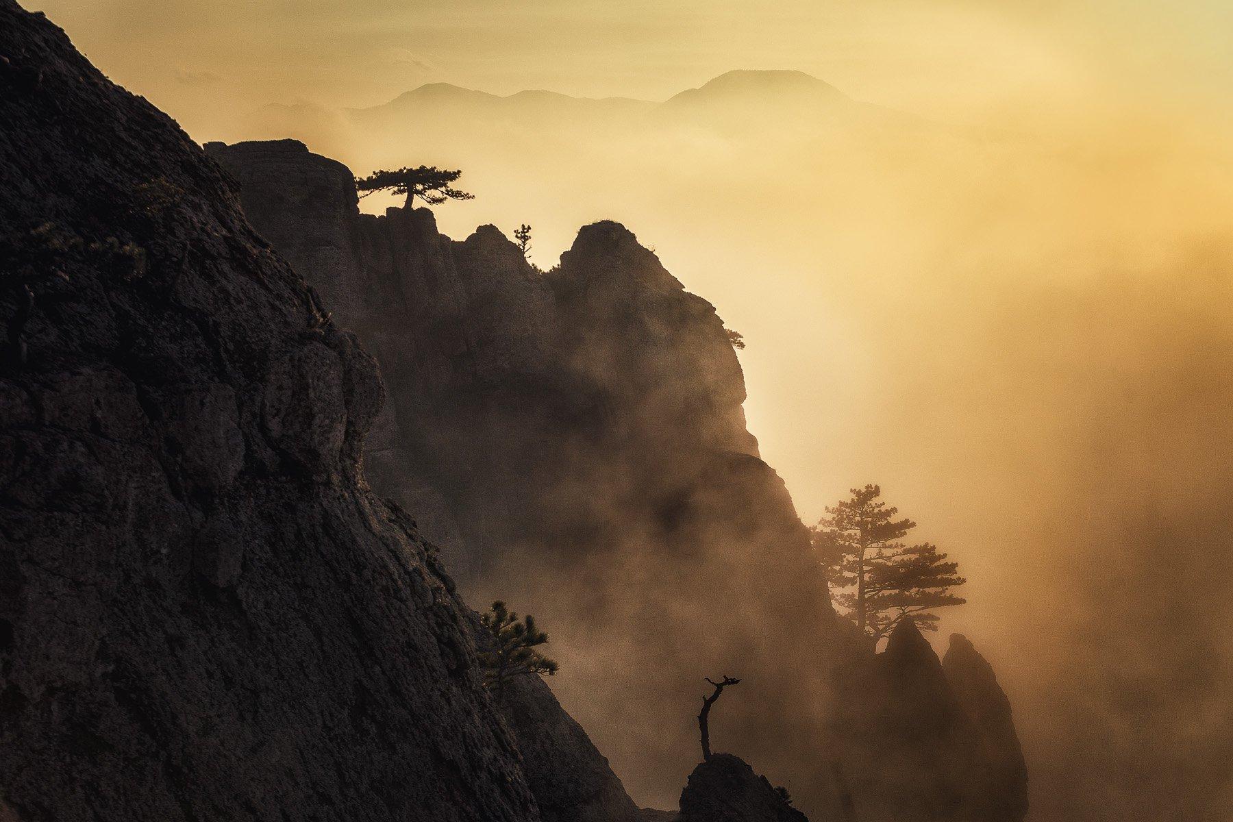 закат, крым, пейзаж, природа, туман, Купрацевич Дмитрий
