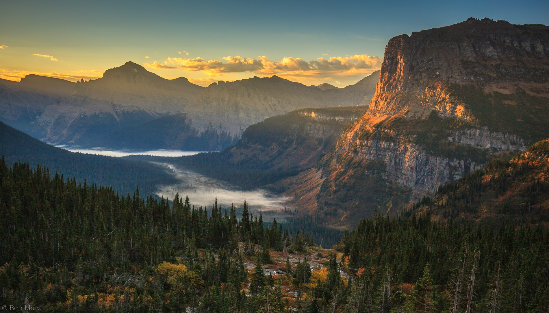 glasier, national, park, Ben Marar