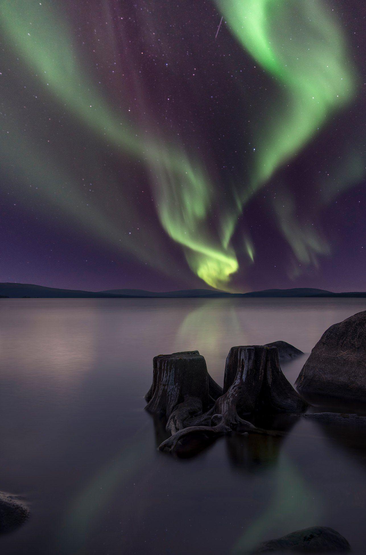 Aurora Borealis, северное сияние, Васильев Алексей