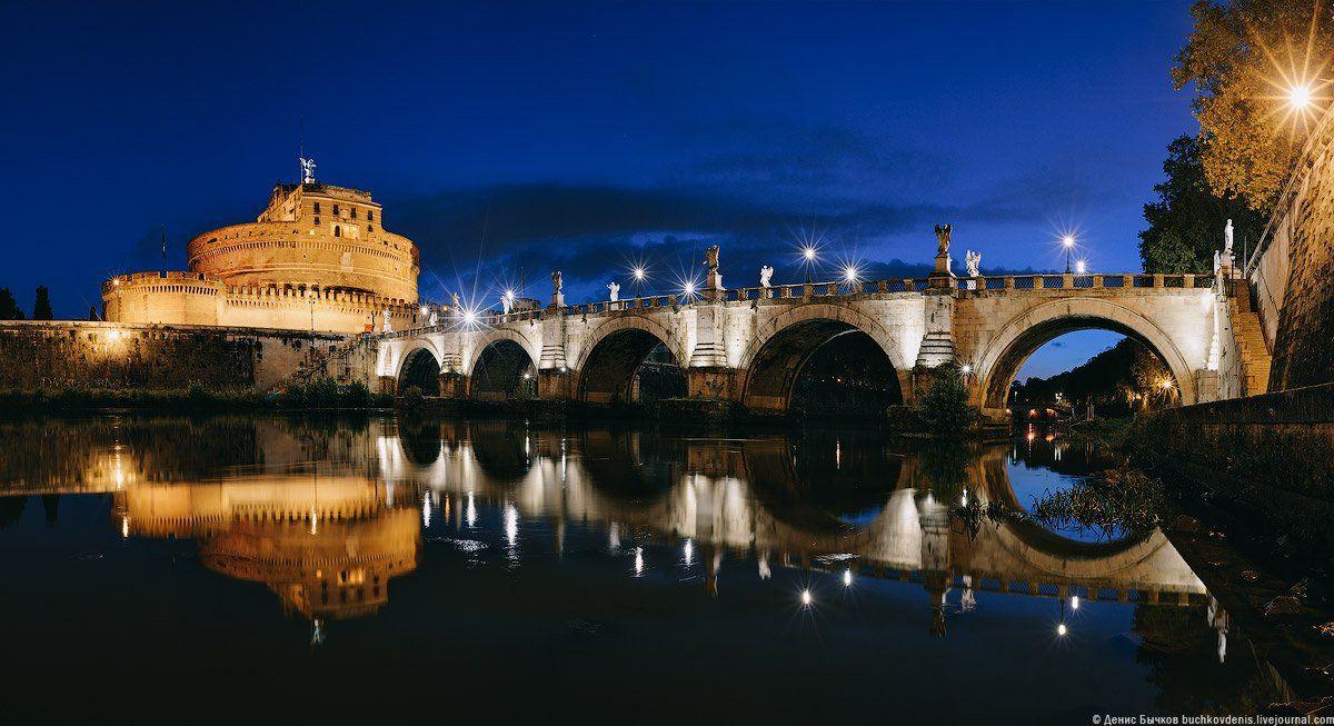 италия, рим,мост, элиев, замок, святого ангела, Бычков Денис