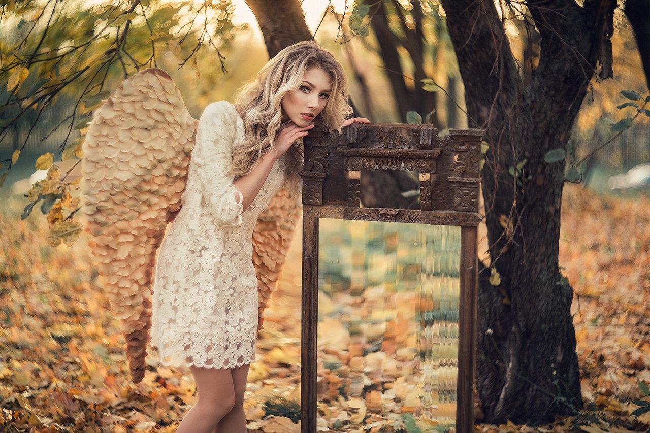 ангел, осень, портрет, Александра Савенкова