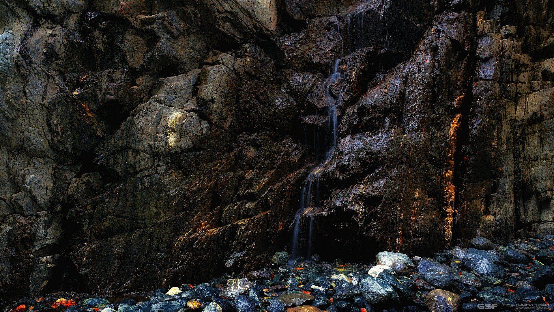 горы скалы каньон камни водопад, Serj Master