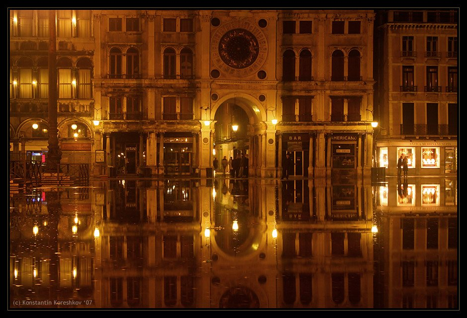 италия, венеция, наводнение, площадь, сан-марко, пьяцца, сан-марко, italy, venice, venezia, piazza, san-marco, Константин Корешков