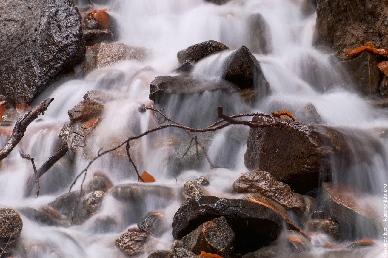 ручей, горы,каказ,домбай,лес, длинная выдержка, вода, водопад, соень, Горшков Игорь