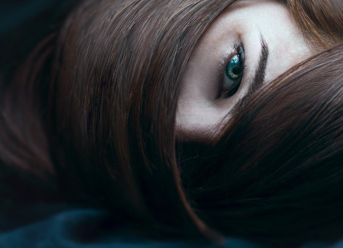 Девушка, взгляд, портрет, Анна Северина