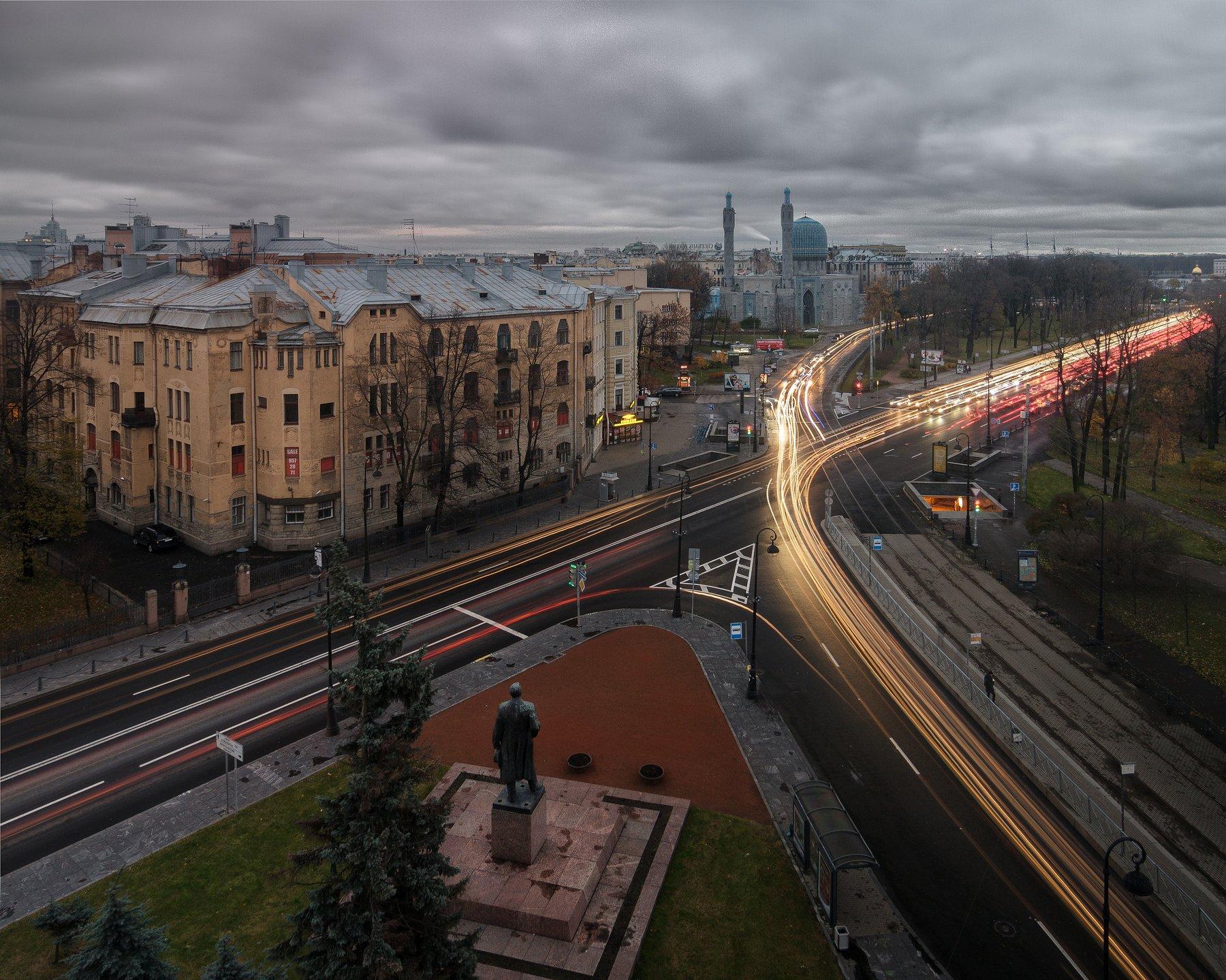 Крыша, город, мечеть, выдержка, urban exploration, Голубев Алексей