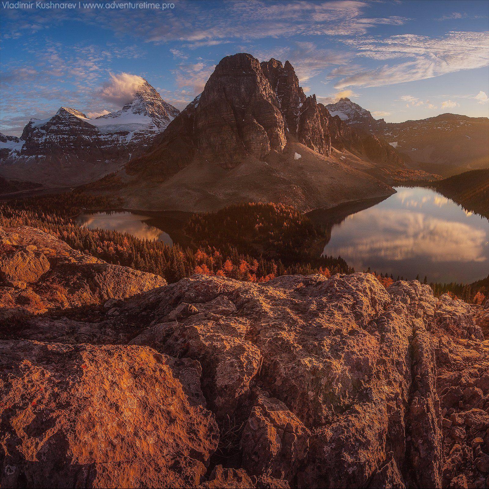 canada alberta landscape sunset mointain assiniboine, Vladimir Kushnarev