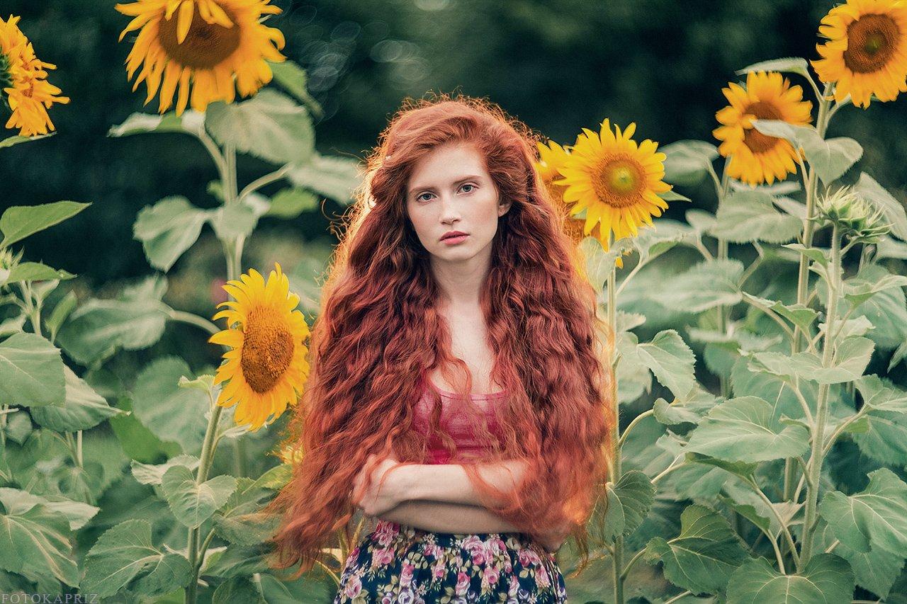 портрет, девушка, рыжая, Александра Савенкова