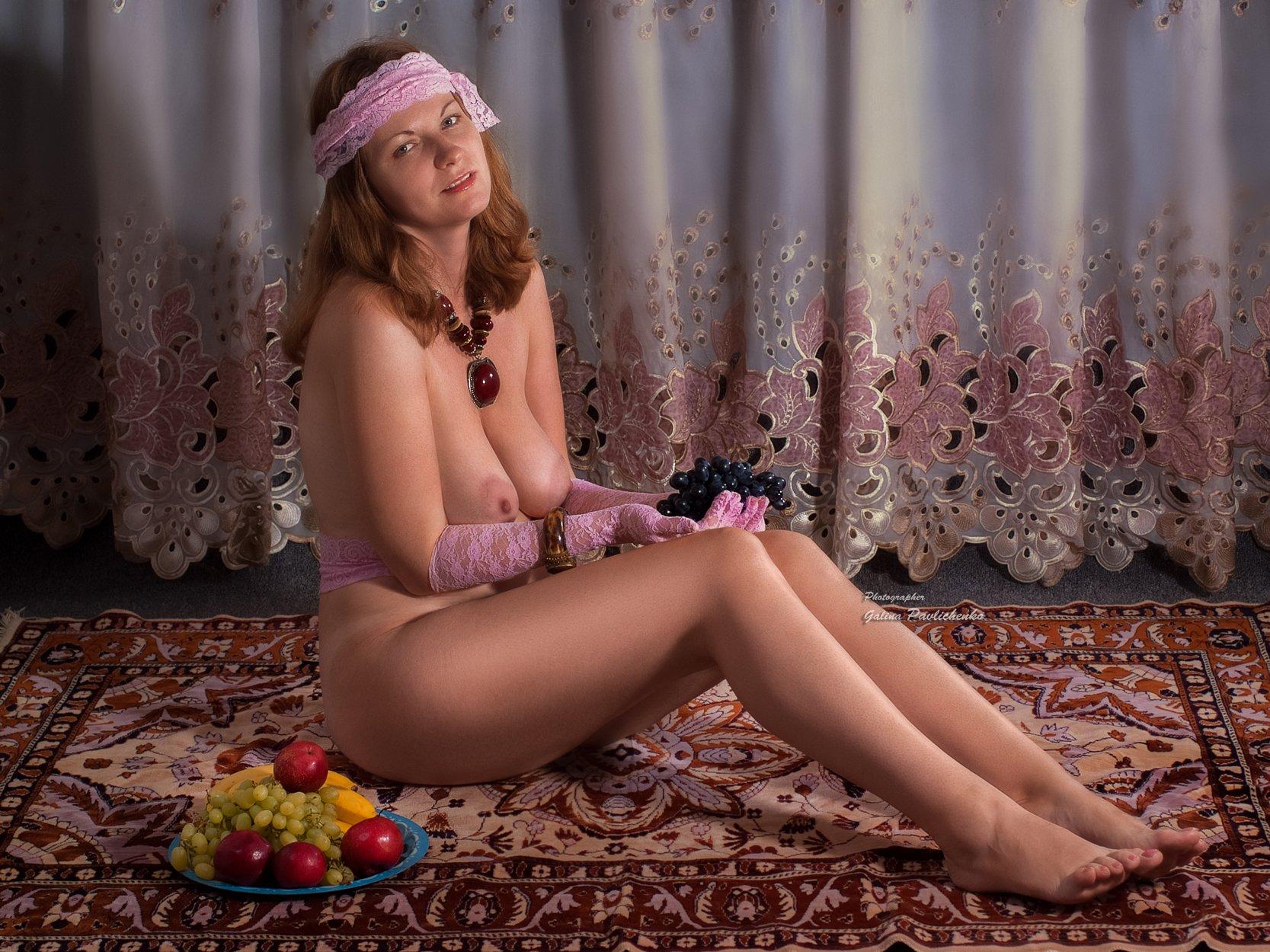 женщина , девушка , ню , эротика , обнажённое тело , шахерезада , фрукты , образ, сказка, Галя