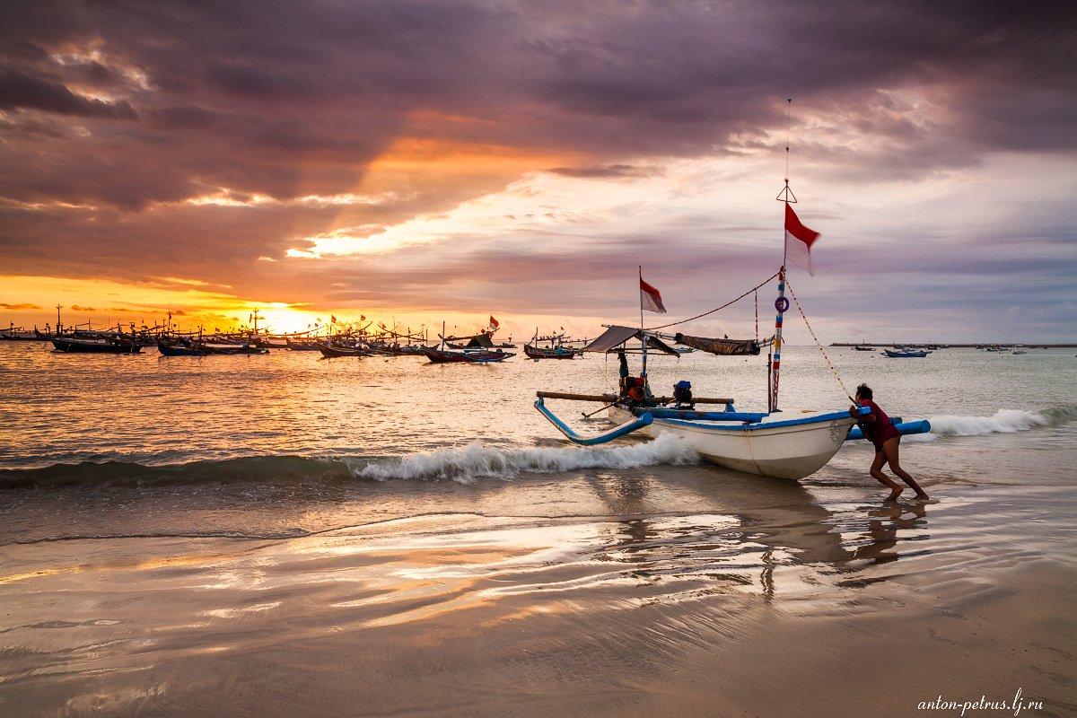 индонезия, океан, закат, Антон Петрусь