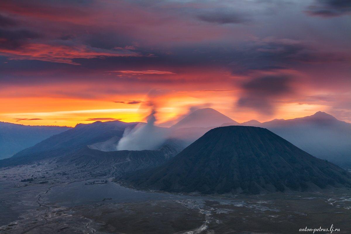 индонезия, вулкан, бромо, закат, Антон Петрусь