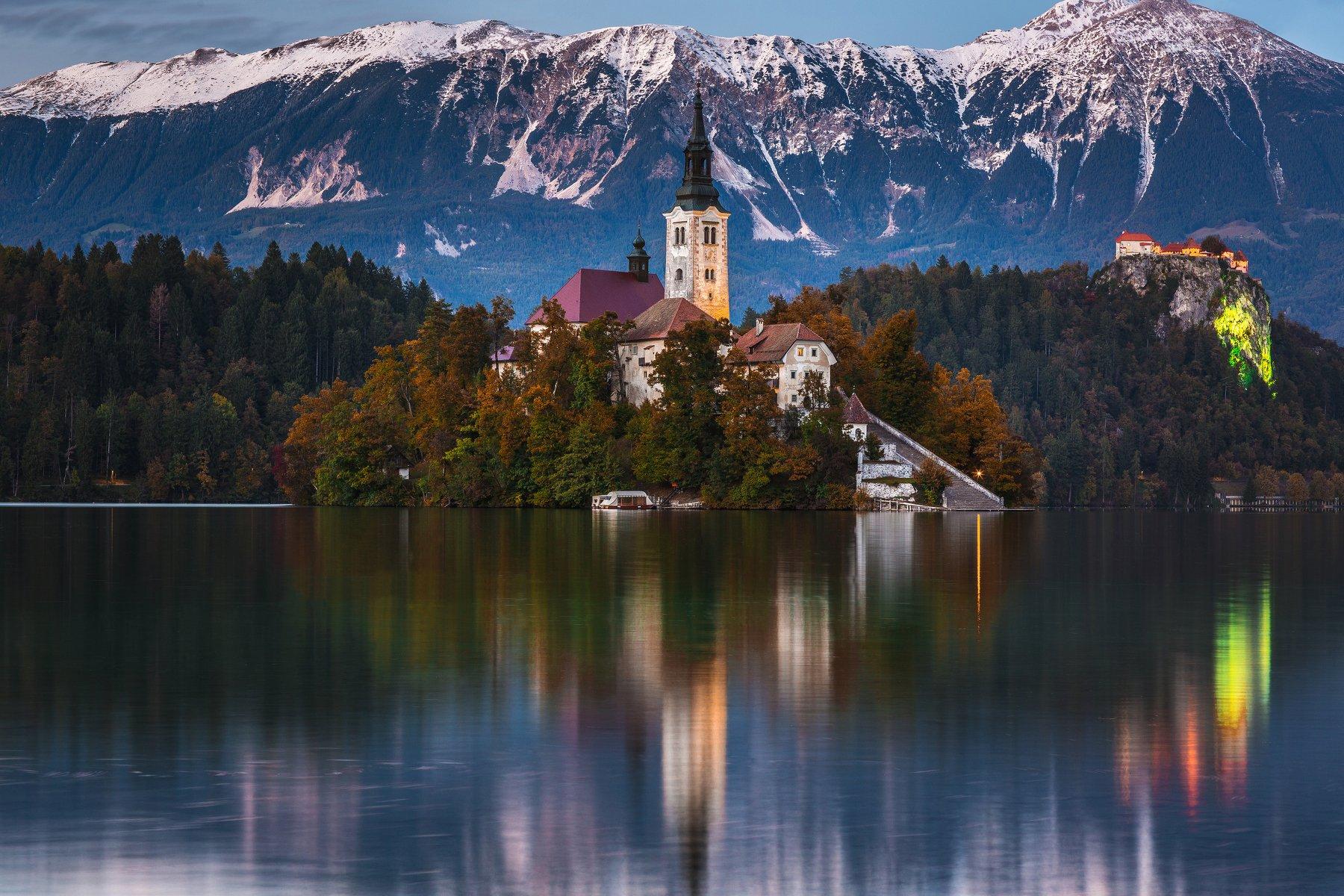 блед озеро осень, Александр Куренной