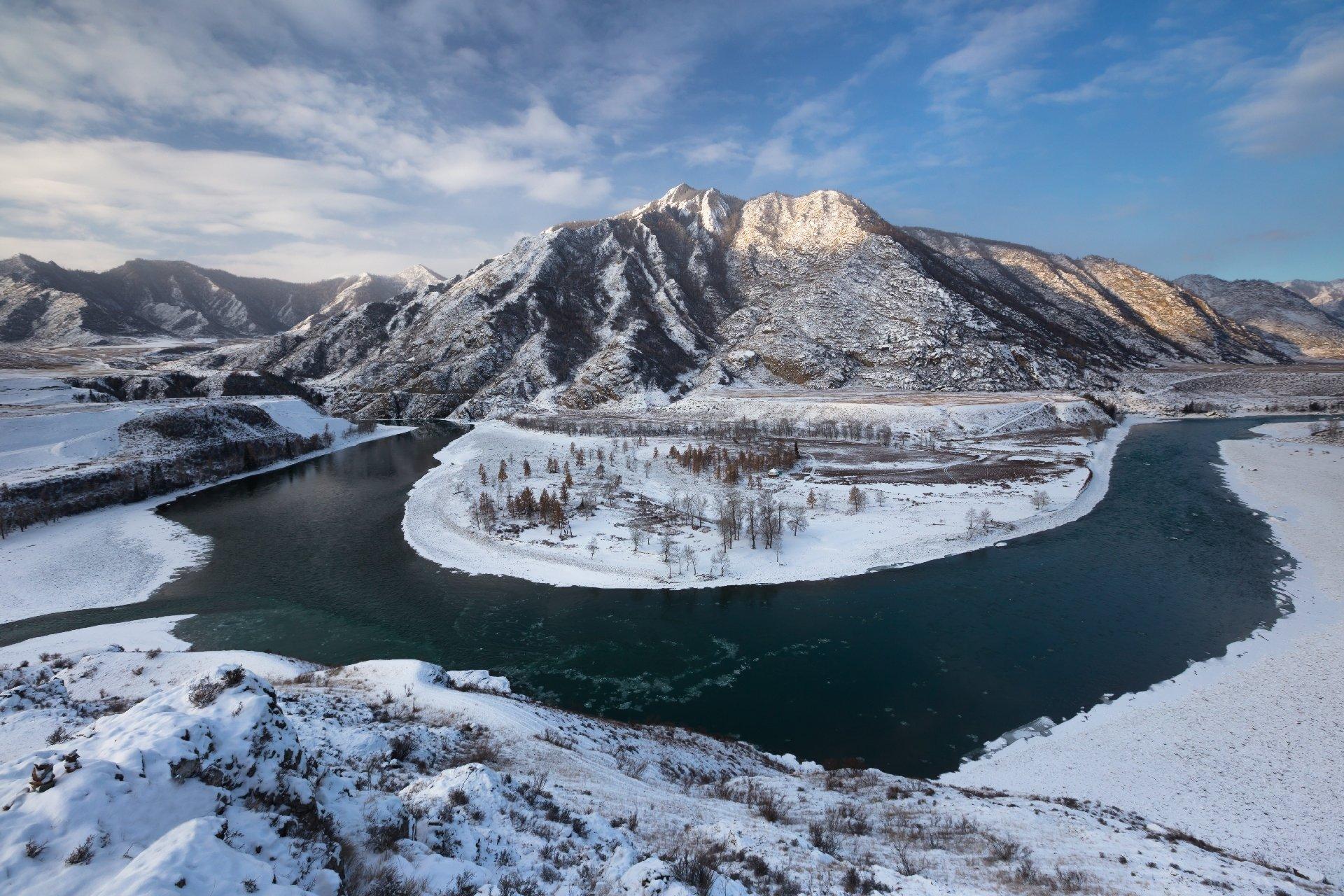 Горный Алтай, Чуя, Катунь, рассвет, утро, горы, Виктор Зайцев