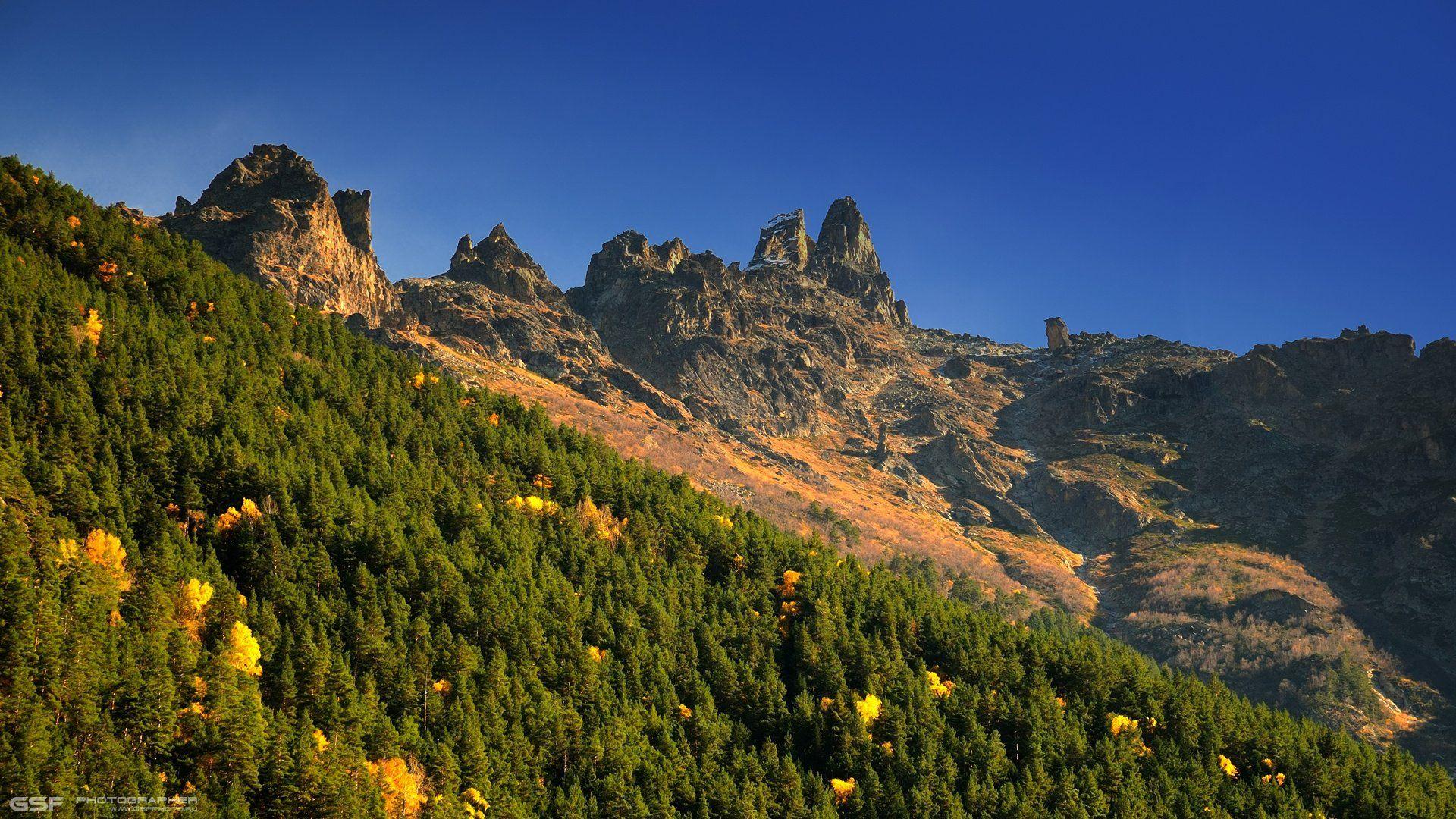 осень горы теберда скалы природа пейзаж, Serj Master