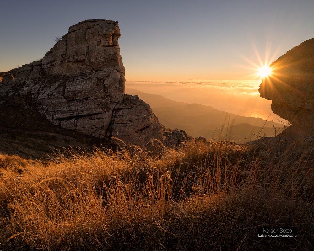 крым, демерджи, горы, рассвет, Kaiser Sozo